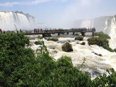IGUAZZU FALLS, Brazillian side. South America. October 2012.
