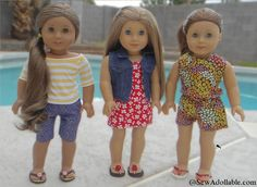 No-Sew Flip Flops for American Girl Dolls