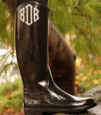 Monogrammed  Rain Boots yes please