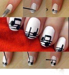 Music sheet nail art