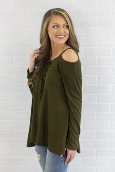 d496e3f2543 Counting On You Cold Shoulder Top