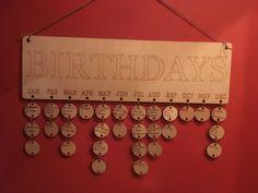 Birthdaycalender Advent Calendar, Birthdays, Holiday Decor, Home Decor, Anniversaries, Decoration Home, Room Decor, Advent Calenders, Birthday