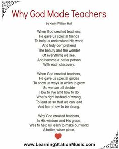 children s poet laureate kenn nesbitt has asked a few of us to  why god made teachers