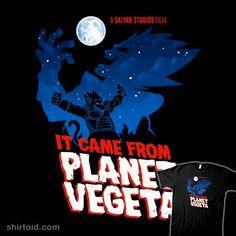 It Came From Planet Vegeta | Shirtoid #anime #dragonball #dragonballz #nathandavis #obvian #tvshow #vegeta