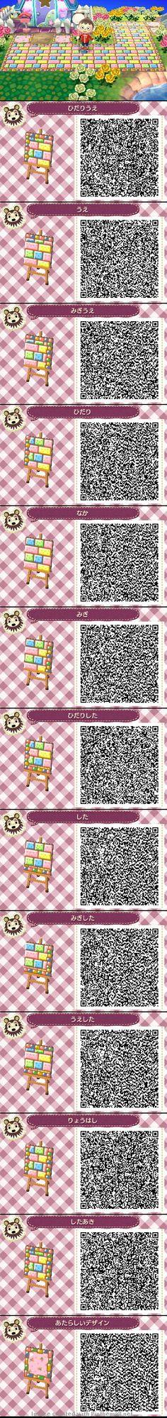 Animal Crossing New Leaf QR codes cute path