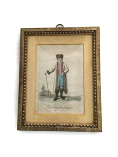 Original Hand Colored Mezzotint of a Drawing by Illustrator Jacques Grasset de Saint-Sauveur c1801 Antique - pinned by pin4etsy.com