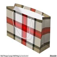 Red Taupe Large Gift Bag