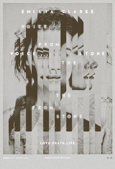 """Pôster do filme """"Voice from the Stone"""" e trouxe uma sensação de distorção, confusão e caos muito interessante!"""
