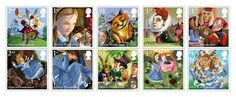 LIBRO. Diez sellos para conmemorar los 150 años de la publicación de Alicia en el país de las maravillas