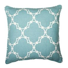 Nice cushion - duck egg blue~mixed with the pink stripe in living room would make it perfect!!!