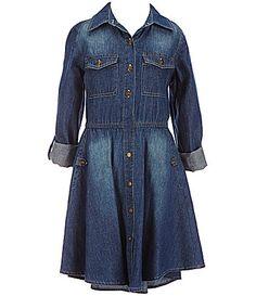 Copper Key Big Girls 716 Chambray Shirt Dress #Dillards