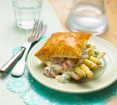 Krokant taartje met zalmragout en asperges - Recept - Jumbo Supermarkten