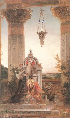 Gustave Moreau >> King David I chose this painting due to such vibrant colours where needed and more detail put towards the entire painting itself. Thé Illustration, Portrait Photos, Gustav Klimt, King David, Art Database, Oil Painting Reproductions, Classical Art, Art Graphique, Fine Art