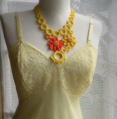 Crochet necklace by DAINTYCROCHETBYALY
