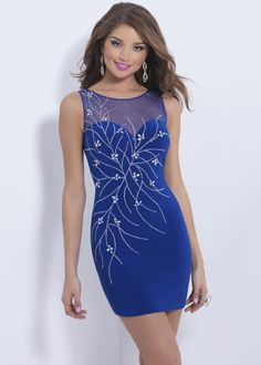 Wishesbridal Awesome O Neck Short Royal Blue #Tulle Sheath Column #Cocktail Homecoming Dress Cbp0115