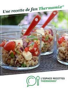 Salade de boulgour par Mély34. Une recette de fan à retrouver dans la catégorie Entrées sur www.espace-recettes.fr, de Thermomix®.