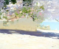 At the Seaside: Late April by Russian Artist Bato Dugarzhapov