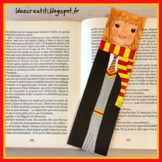 """ideecreatiti: marque-page """"Harry Potter"""" Theme Harry Potter, Anniversaire Harry Potter, Hermione, Deco, Place, Cross Stitch, Marque Page, Children Reading, Reading"""
