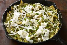 I love waking up to a big plate of chilaquiles like these with salsa verde, queso fresco & crema! Here's my recipe...