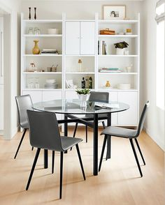 A compact dining space can still be beautiful and functional with the right furniture pieces! Get our tips for why this space works.