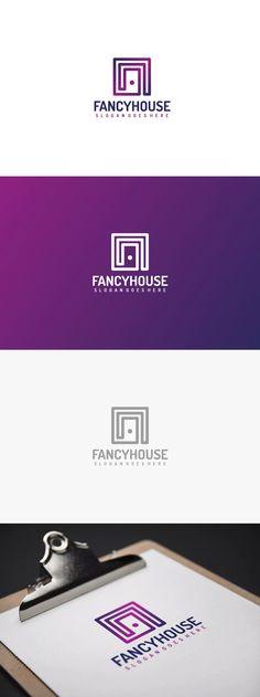 Luxury House Logo Template AI, EPS