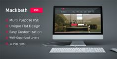 Deals Mackbeth - Multipurpose PSD Templatetoday price drop and special promotion. Get The best buy