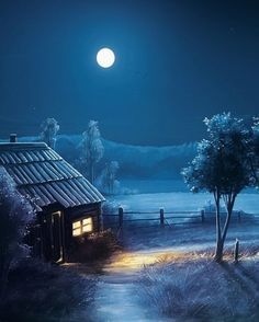 Night Scenery, Anime Scenery, Painting Wallpaper, Hd Wallpaper, Winter Pictures, Stars At Night, Reading Room, Ocean Waves, Night Skies