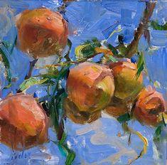 Derek Penix - Portfolio of Works: Tree Series Art And Illustration, Painting Inspiration, Art Inspo, Kunst Inspo, Fruit Painting, Impressionist Paintings, Cool Paintings, Art Sketchbook, Aesthetic Art