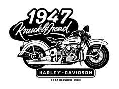 Harley-Davidson, Knucklehead 1947. by Izrael Silva