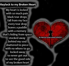 Keylock to my Broken Heart - Sad Poetry Black Tears, Broken Heart Quotes, Heartbroken Quotes, Make You Cry, Ex Husbands, My Heart, It Hurts, Poems, Sad