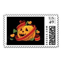 Halloween Wedding Postage
