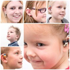 Hearing aid jewels on children and young adults. Available via Joosten Hoorspecialisten.