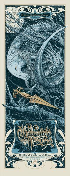 Affiche Art Nouveau Le Labyrinthe de Pan