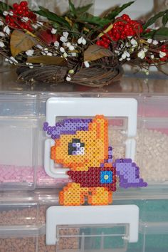 My Little Pony Scootaloo Chibi Perler by AkirasPerlerWorld on Etsy, $5.00