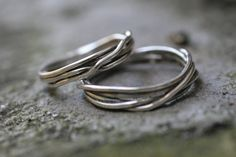 Fit to be tied wedding band set (2 rings) in Sterling Silver by CommitMe on Etsy https://www.etsy.com/listing/89881558/fit-to-be-tied-wedding-band-set-2-rings