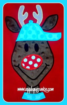 Reindeer Dude Rudy Machine Applique Design