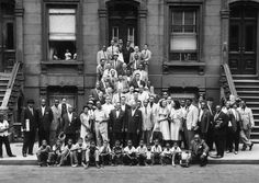 On an August morning in 1958, 57 jazz musicians gathered on a Harlem stoop to pose for a group portrait taken by jazz enthusiast Art Kane (who went on to become a famed fashion and rock 'n' roll photographer). The famous photo, shot on the front steps and sidewalk outside a brownstone on 126th Street, became the centerfold in Esquire's January 1959 issue, The Golden Age of Jazz