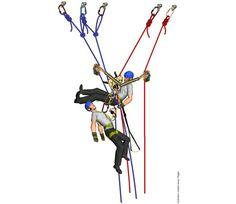 Rescate en trabajos verticales, 5 maniobras de descenso