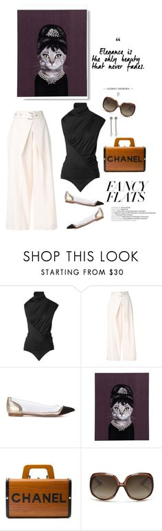 """The classics"" by iriadna ❤ liked on Polyvore featuring Marques'Almeida, Proenza Schouler, Gianvito Rossi, Empire Art Direct, Chanel, Christian Dior, Lanvin, blackandwhite, CasualChic and chicflats"