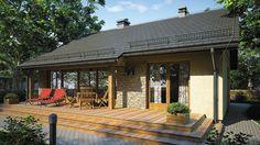 Projekt domu Ricardo XI 72,90 m² - koszt budowy - EXTRADOM Gazebo, Exterior, Outdoor Structures, House Design, Outdoor Decor, Home Decor, Kiosk, Decoration Home, Room Decor