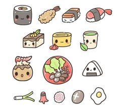 Sushi Kawaii Chibi Doodles Cute Art Food