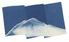 Sean Mcfarland Untitled (Blue Glass Mountain) 2013 Cyanotype plate: 3 ½ × 5 ¾ in.