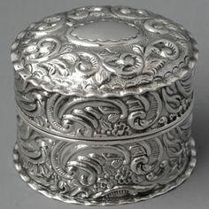 Sterling silver ring box