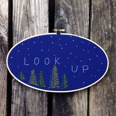 "Starry embroidery scene - ""look up"""