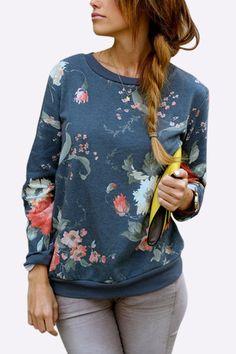 Camiseta al azar de la impresión floral de la manera