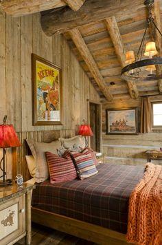 cama naranja decoracion madera