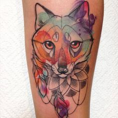 Nice Colorful Animal Tattoos (16 pics)