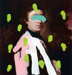 Chad Wys   Brutalized Gainsborough   paint on laser print   2009
