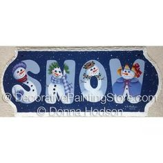 SNOW ePacket by Donna Hodson - PDF DOWNLOAD