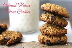 Oatmeal raisin pecan cookies   www.veggiesdontbite.com   #vegan #plantbased #glutenfree #dates